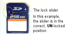 SD card lock slider