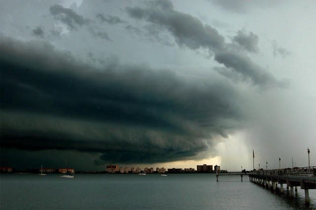 Supercell over city