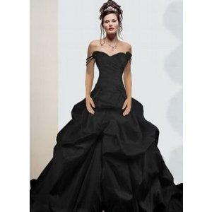 langes schwarzes kleid hochzeit