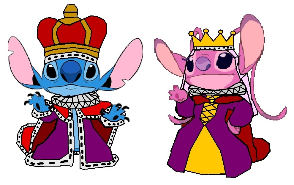 tSZWlFV King-Stitch-and-Queen-Angel-lilo-and-sti
