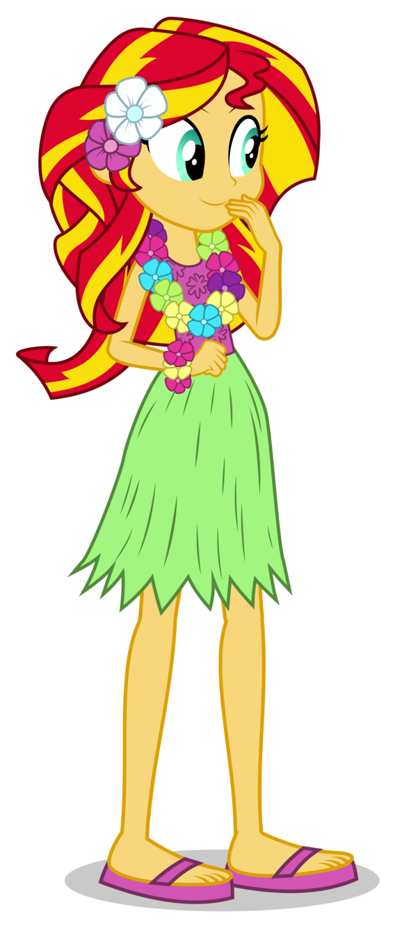 hula sunset shimmer puppet by mohawgo-d7