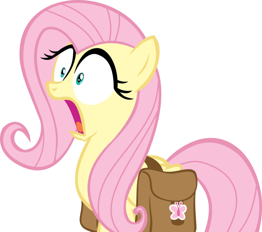 shocked fluttershy vector by landboom-d5