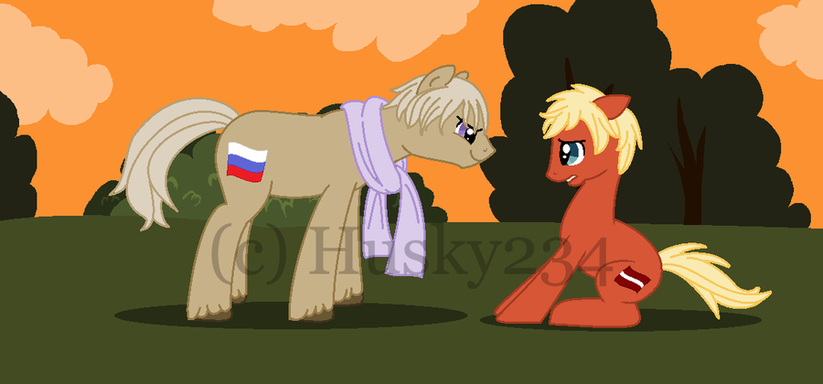 russia pony and latvia pony by husky234-