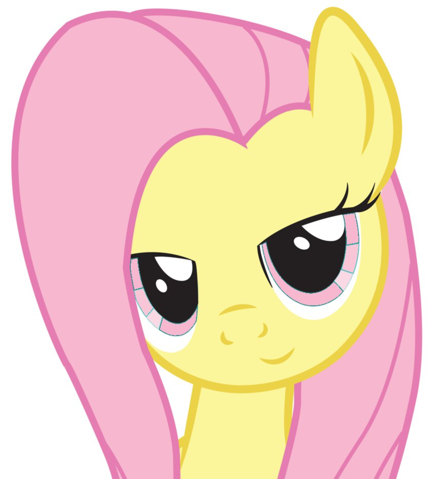 fluttershy with pink eyes by pichulondon