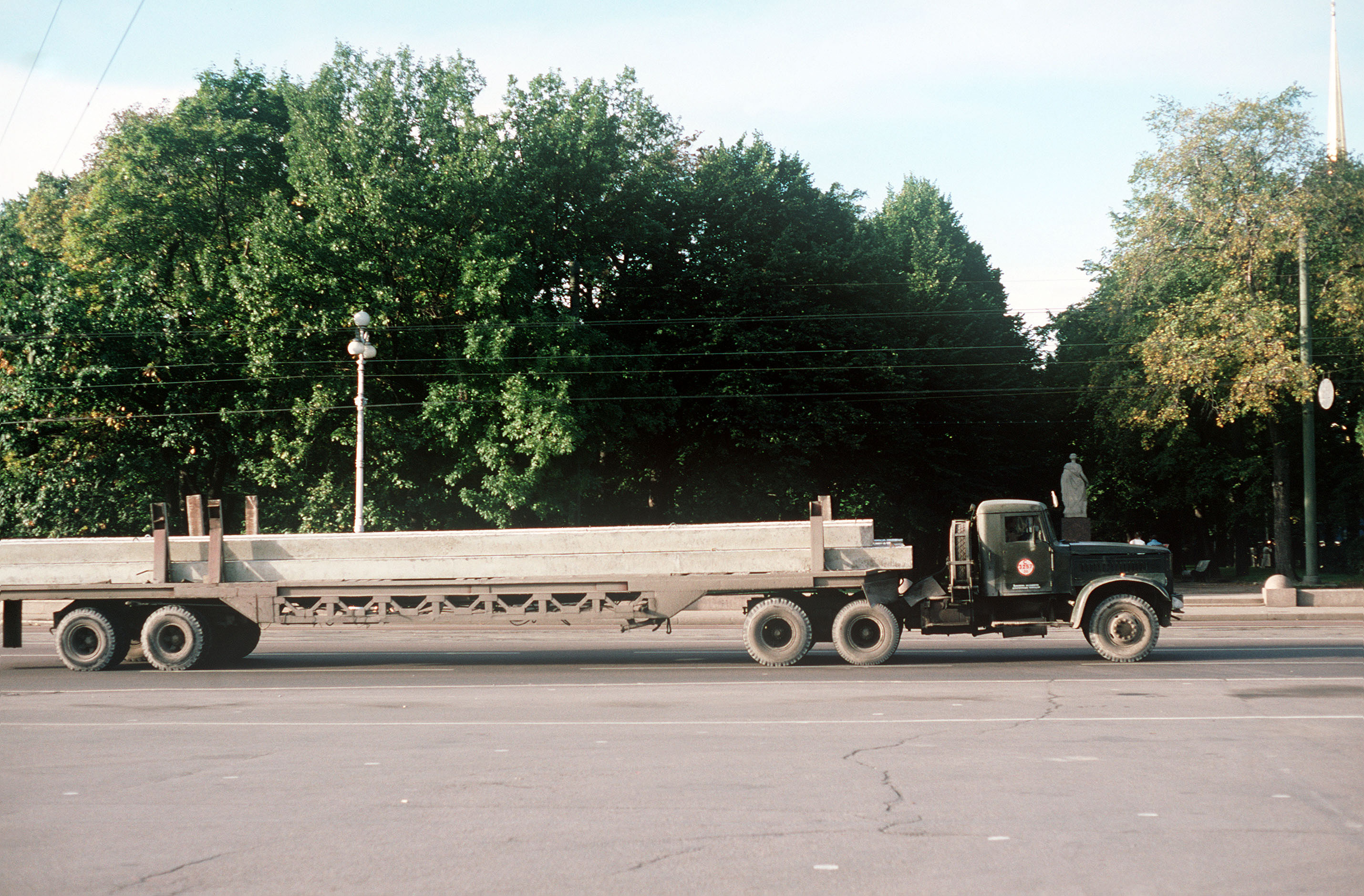 A KrAZ-258 tractor truck and transport t.JPEG