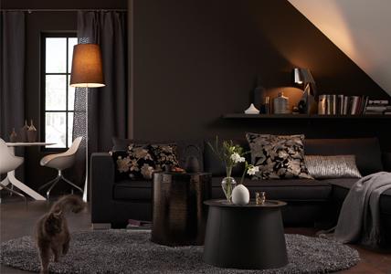 Wohnzimmer Farbideen Braun: Wandspachtel Wandbeschichtung ... Einrichtungsideen Wohnzimmer Braun