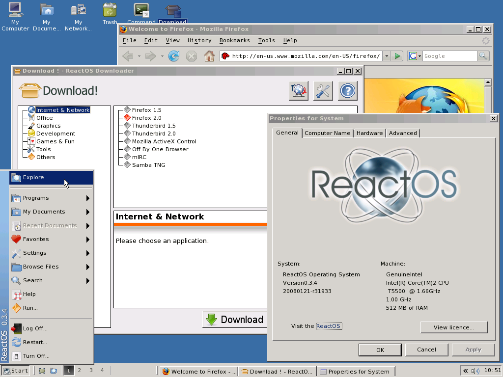 ReactOS Project. The windows open source