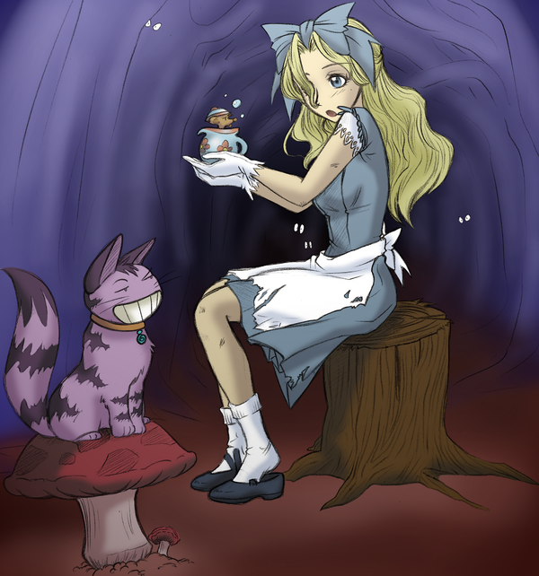 Alice In Wonderland Fanart by HappyDogCo