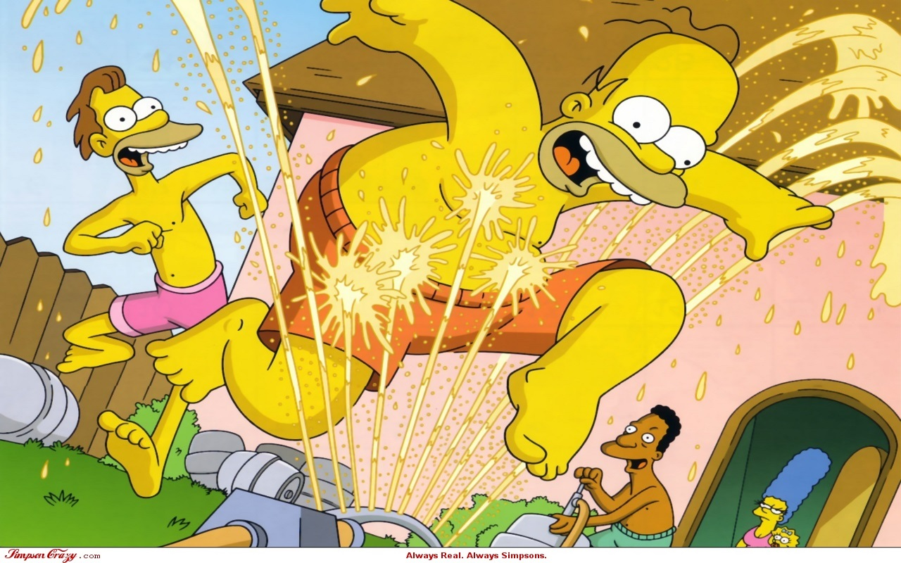 simpsons253A-bier-sprinkler-wallpapers 2