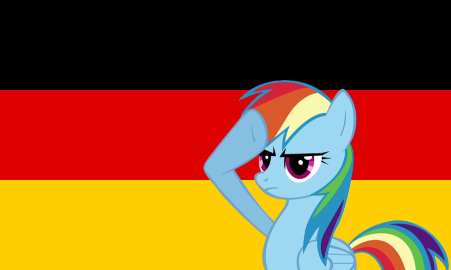 rainbow dash salute   germany by quaduni