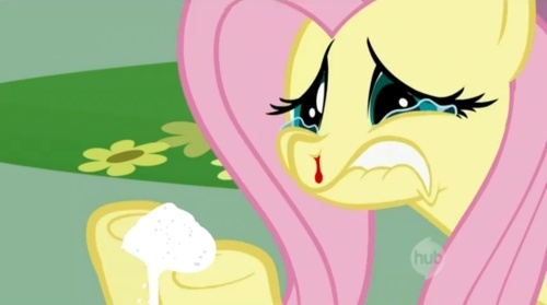 129909  safe fluttershy blood drugs nose