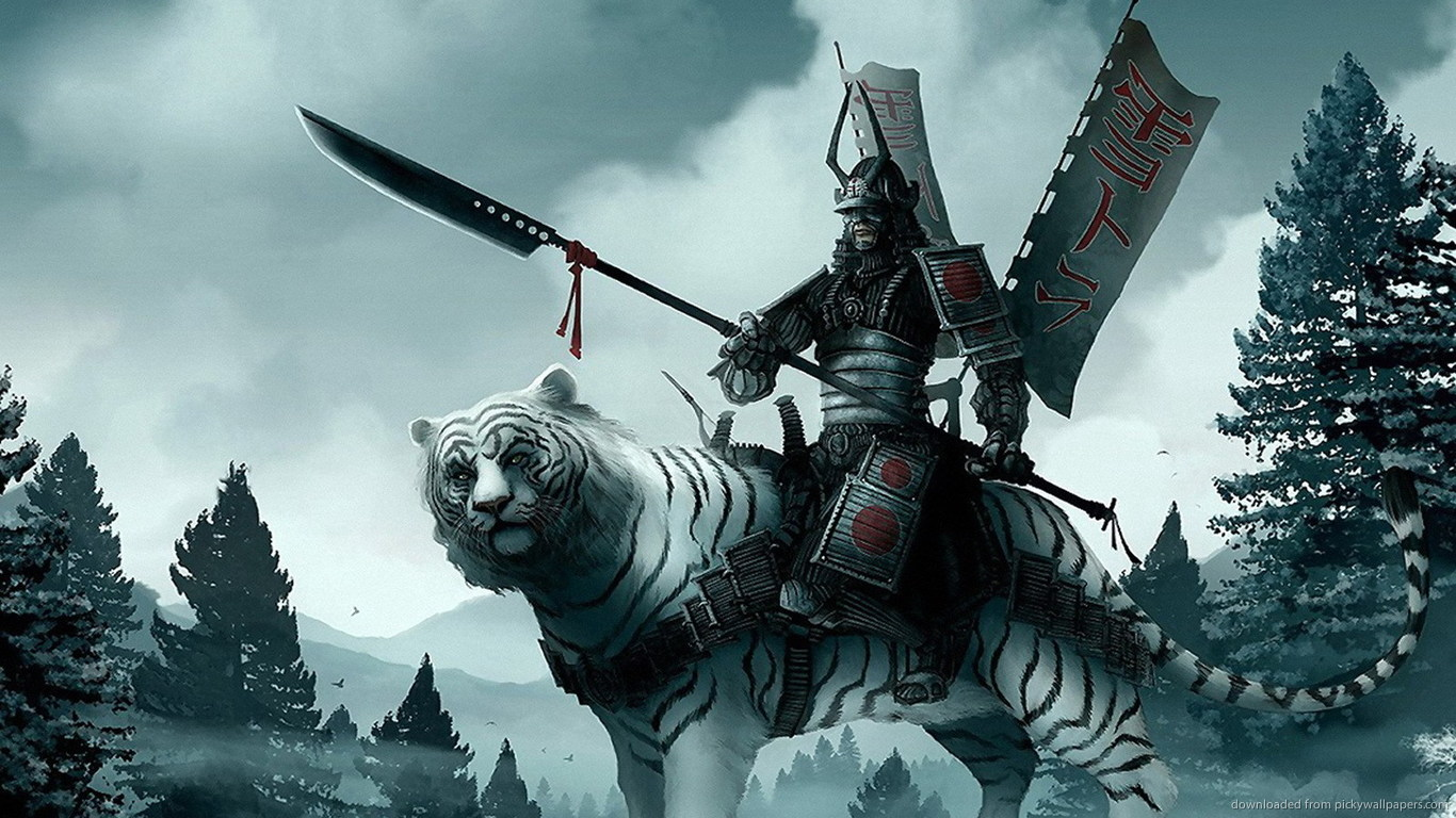 samurai-on-a-white-tiger