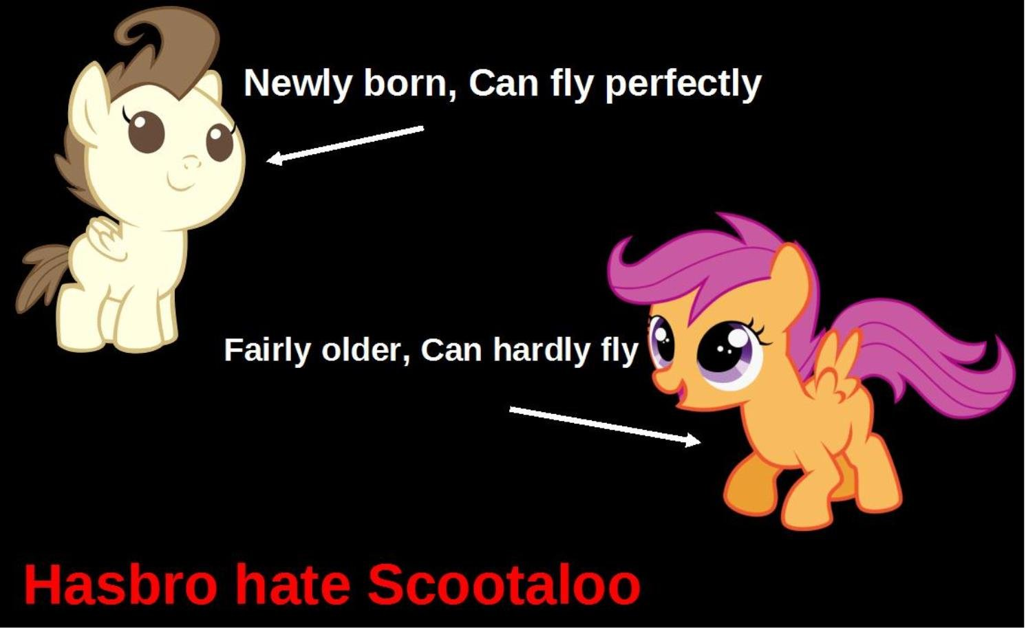 hasbro hate scootaloo by thunderrdash-d6