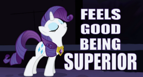 t807dcf mlp rarity feels good being supe