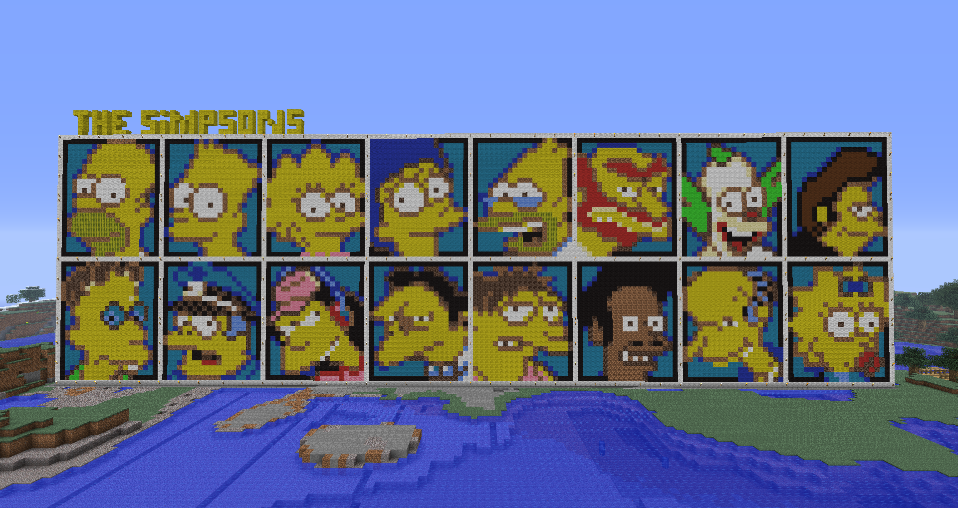 minecraft   the simpsons by luk01-d4hmm6