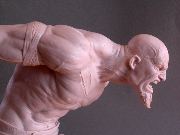Kratos sculpture by MarkNewman