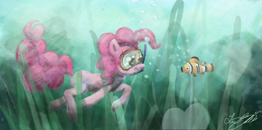 pinkie pie under water by malicieuxx-d4r