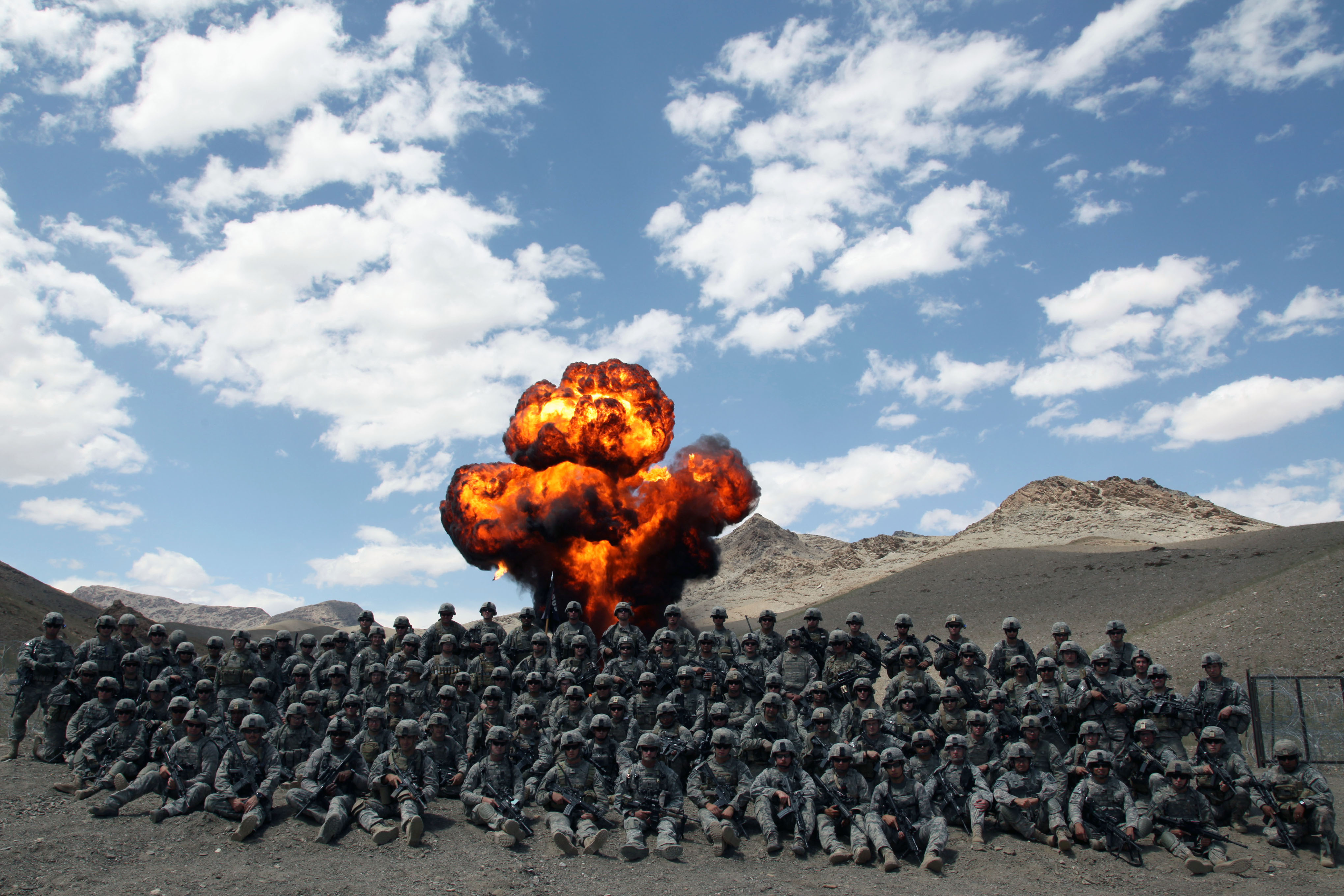US Army in Afghanistan explosion in the