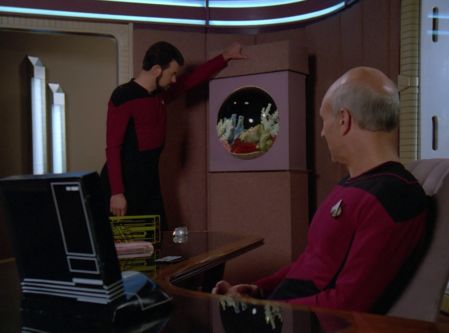 Riker and Picard discuss promotion