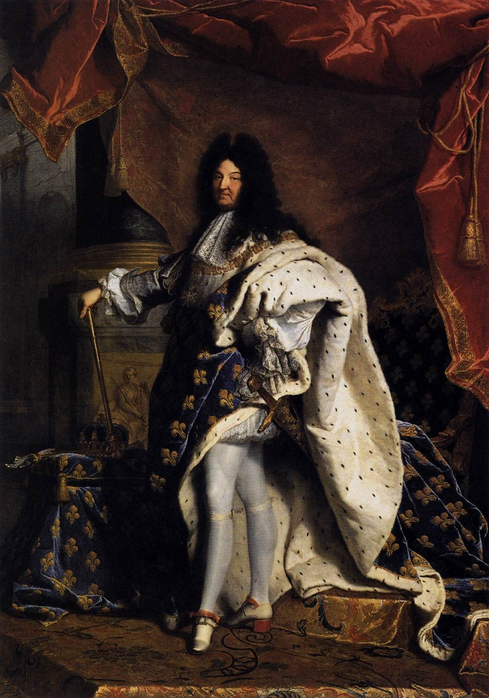 hyacinthe rigaud portrait of louis xiv 1