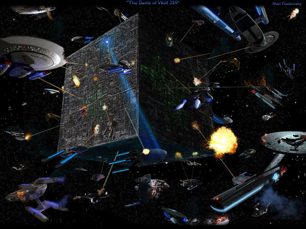 106 Battle of Wolf359 Borg Invasion free