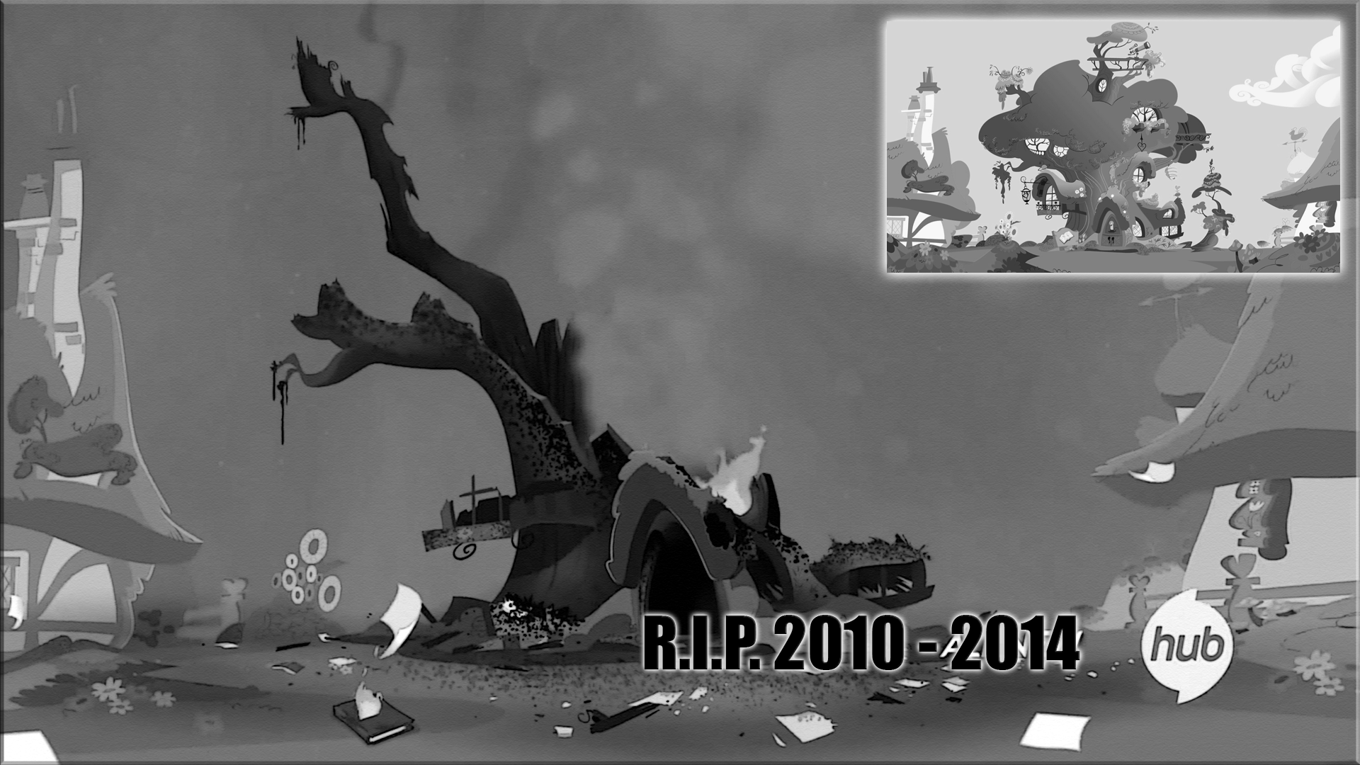 mlp twilight sparkle destroyed tree hous