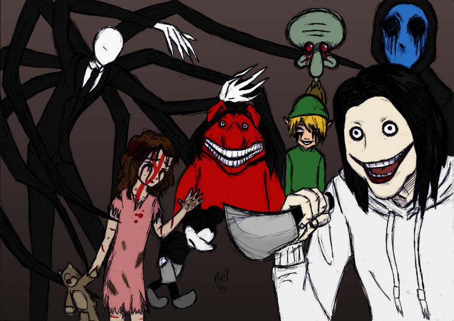creepypastas family   color colab by kik
