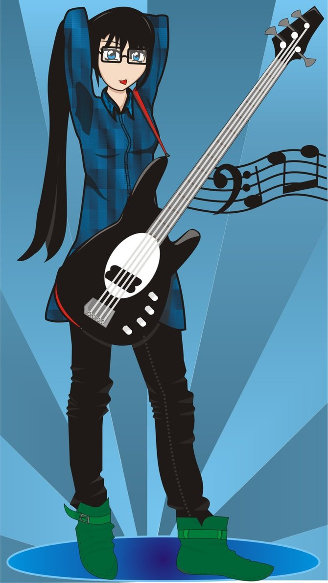 bassist girl by nerevars-d46lcm2