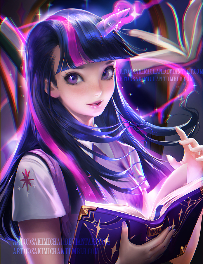 twilight sparkle by sakimichan-d95addd