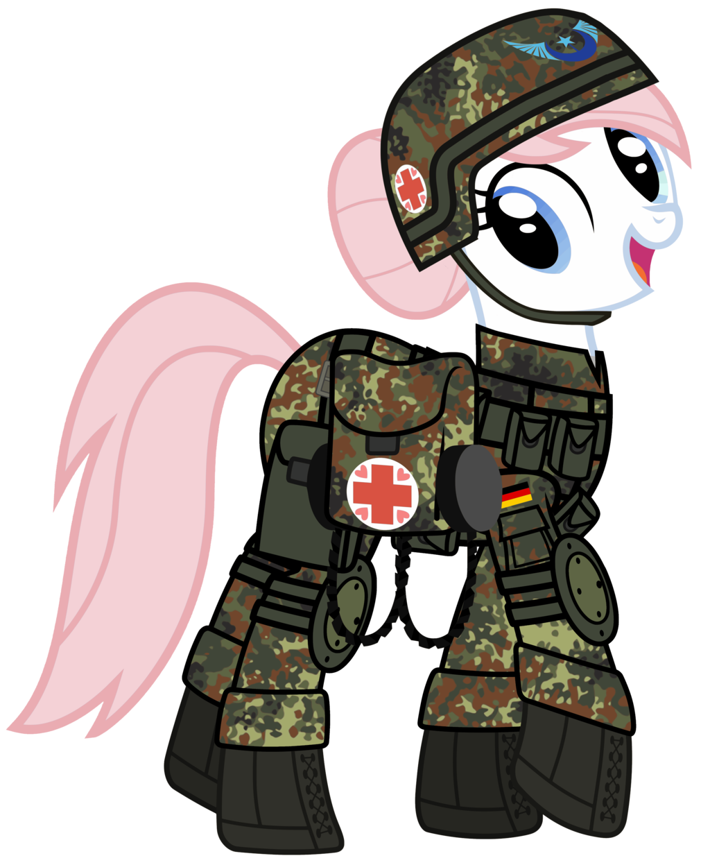 nurse redheart is ready for battle  by n