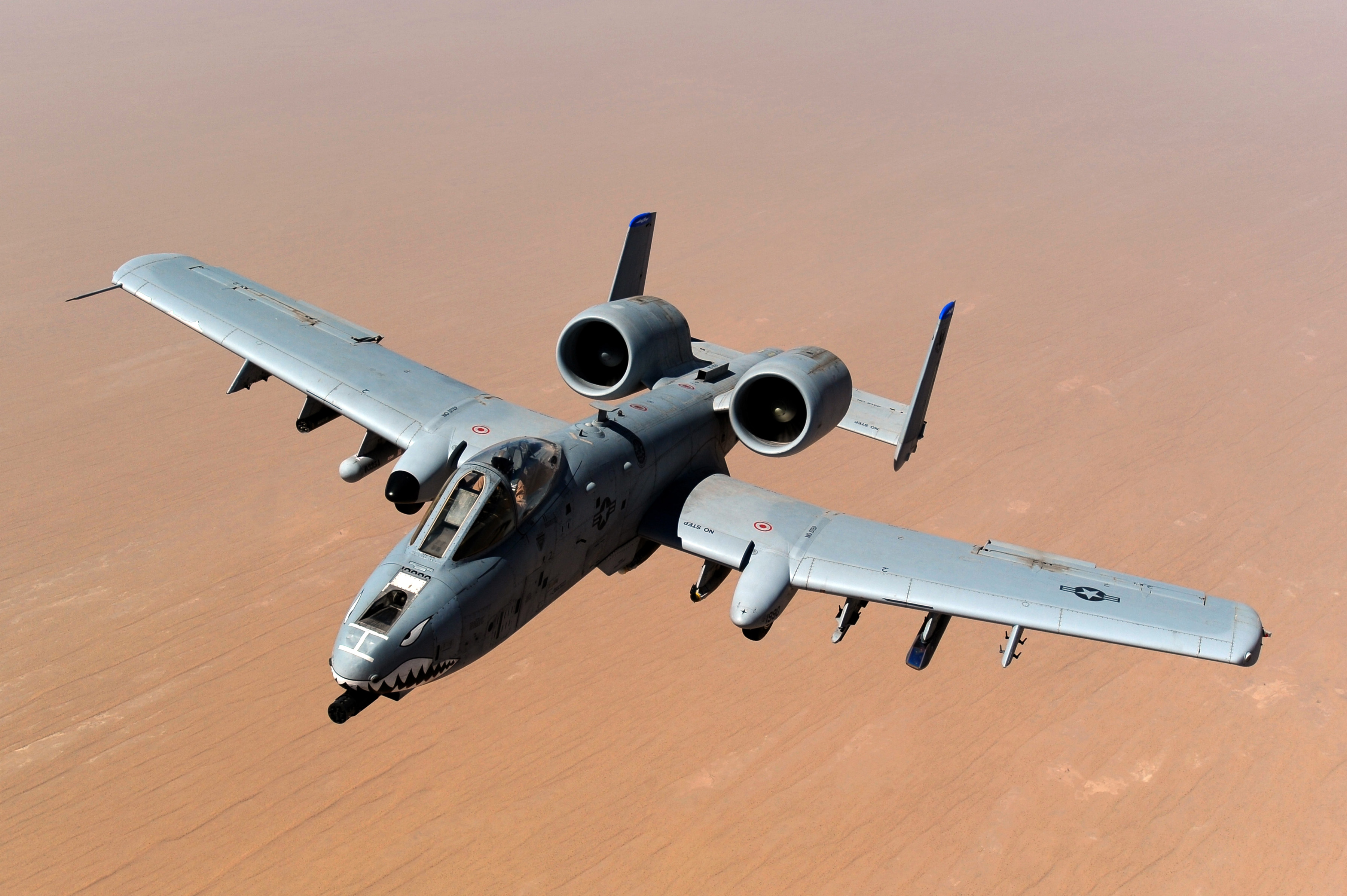 USAF A-10 Thunderbolt II after taking on