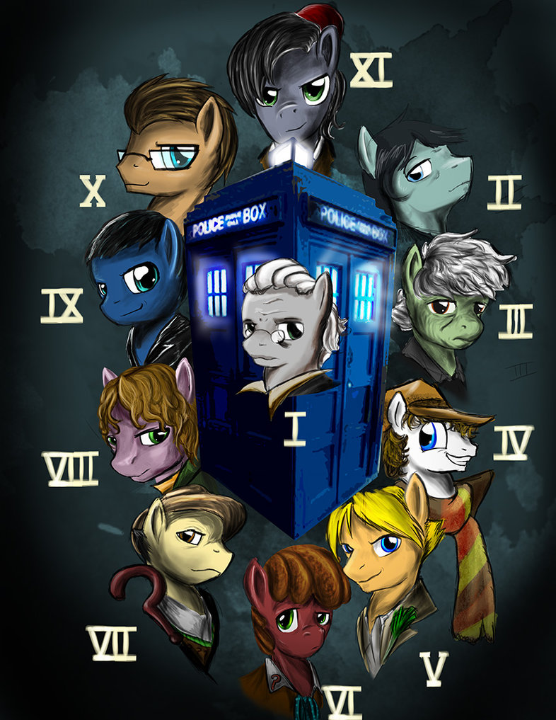 the many faces of doctor whooves by d lo