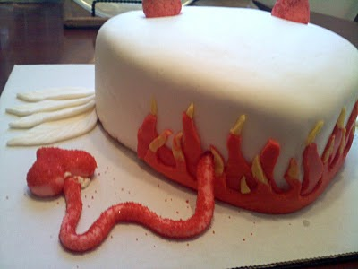 63cbb6 angel devil cake with flames