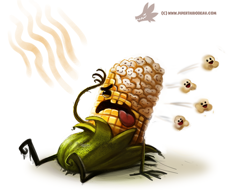 daily paint  988  popcorn  oa  by crypti