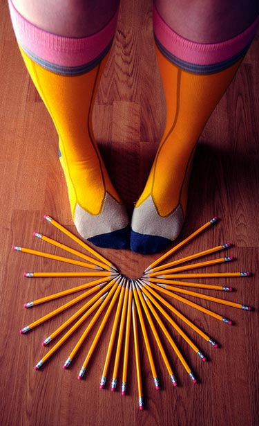 pencil-socks