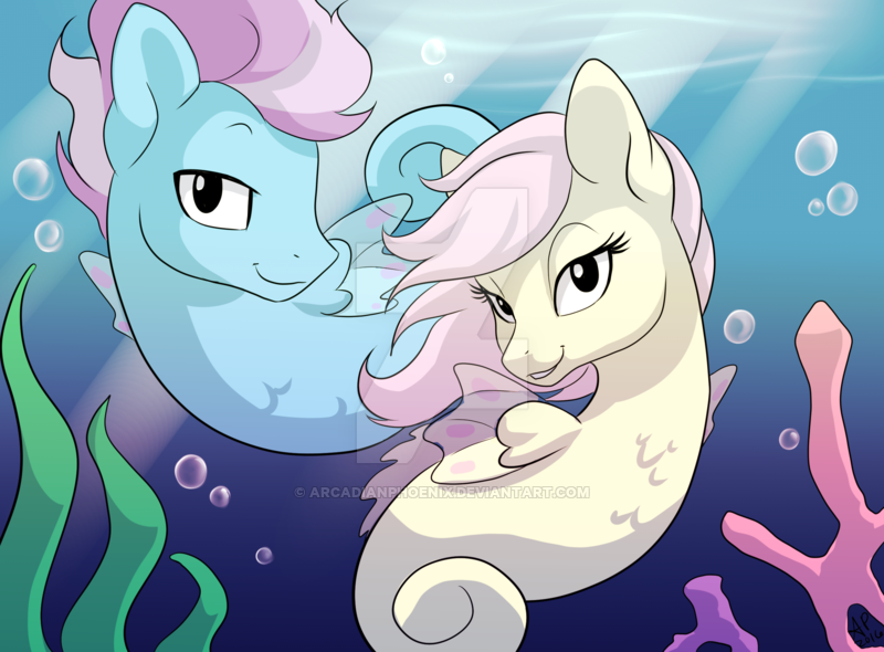 com seapony shipfic card art by arcadia