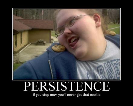 fat people persistence cookie demotivati