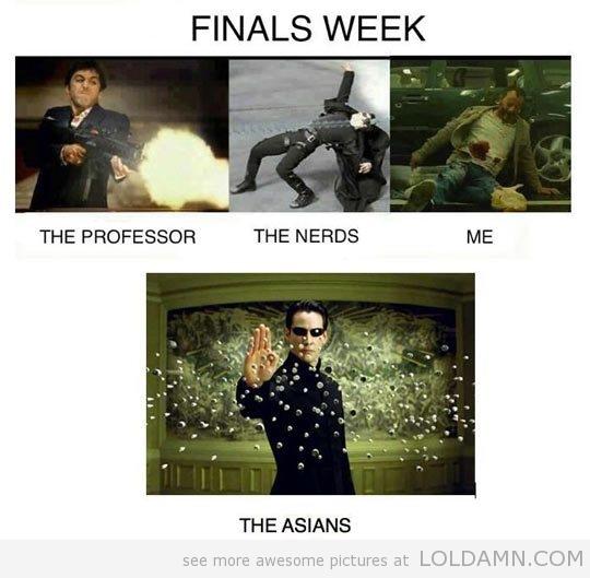 Finals Week Meme Matrix -stopping-bullets-Matrix