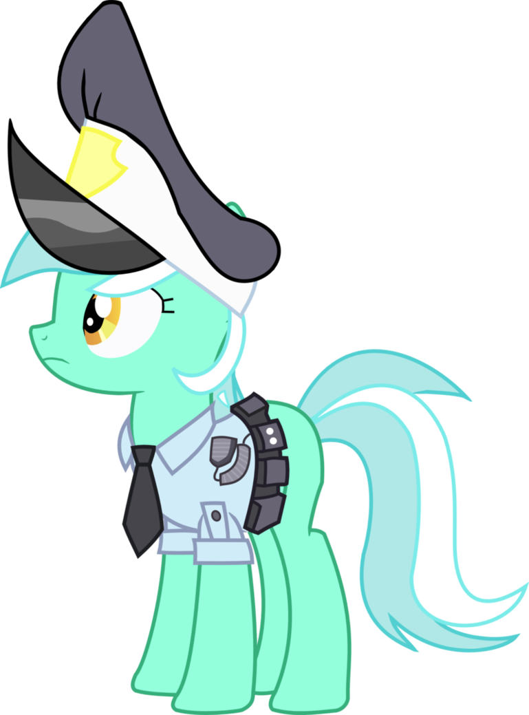 my little pony vector   lyra police pony