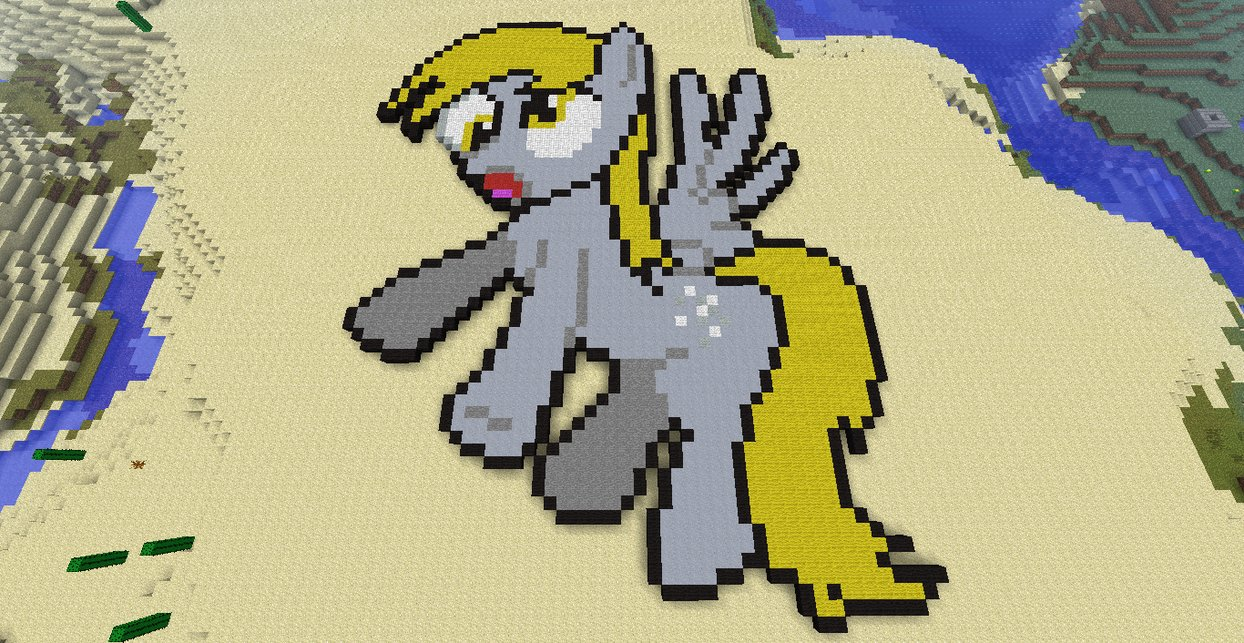 mincraft  derpy hooves by angel molina-d