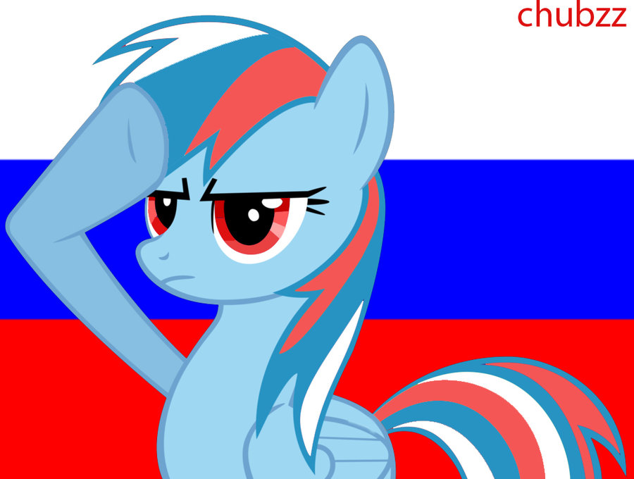 mlp fim russian rainbow dash salute by k