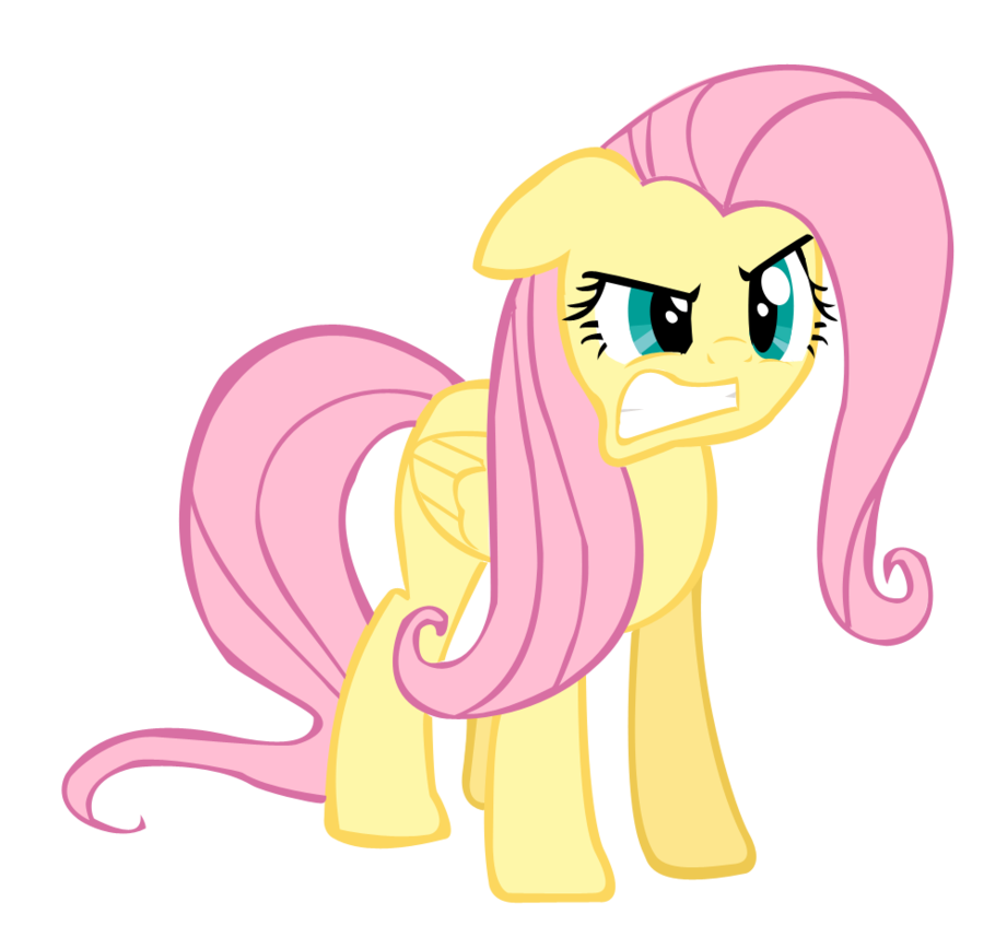 angry fluttershy by lord cullbot-d5sls76