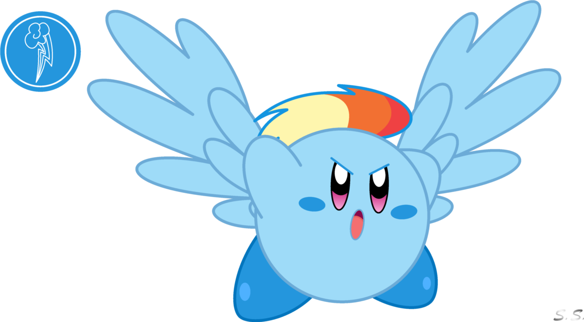 kirby rainbow dash by silver soldier-d5a