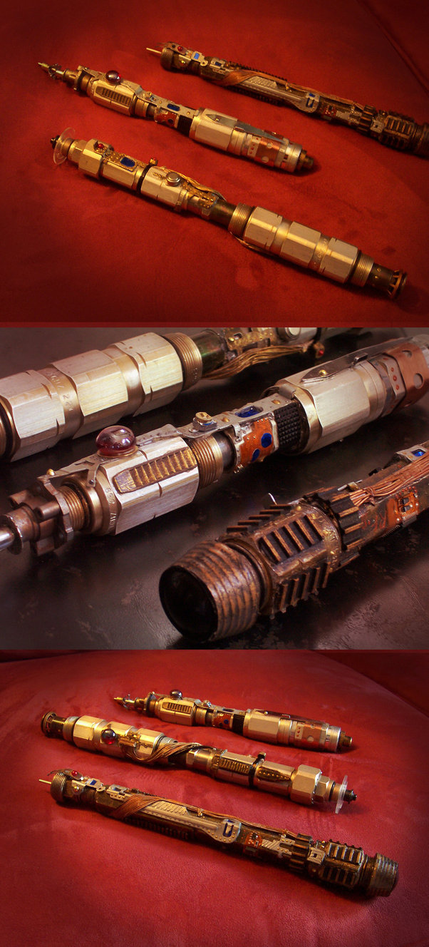 steampunk light saber group by pinochioo