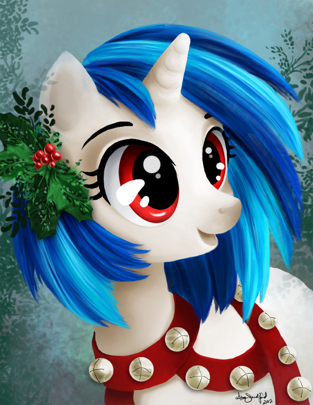 merry christmas from vinyl scratch by tu