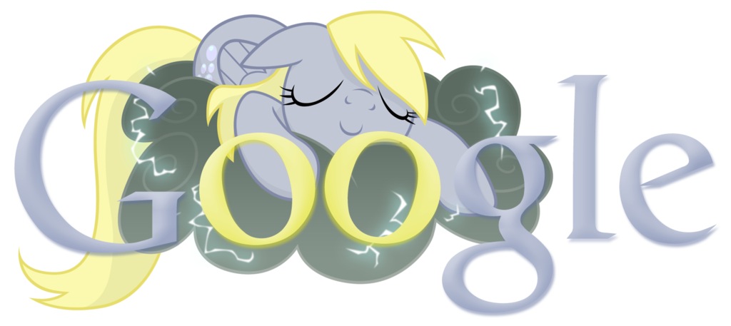 derpy hooves ditsy doo google logo by ss