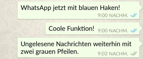 Whatsapp 2 blaue haken