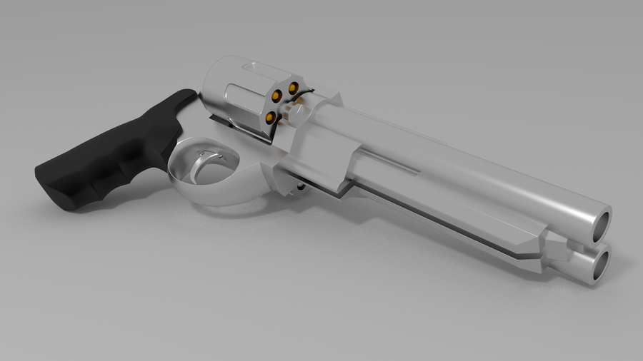 double barreled revolver by jarjarguy-d4