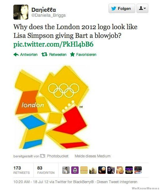 why does the london 2012 logo look like