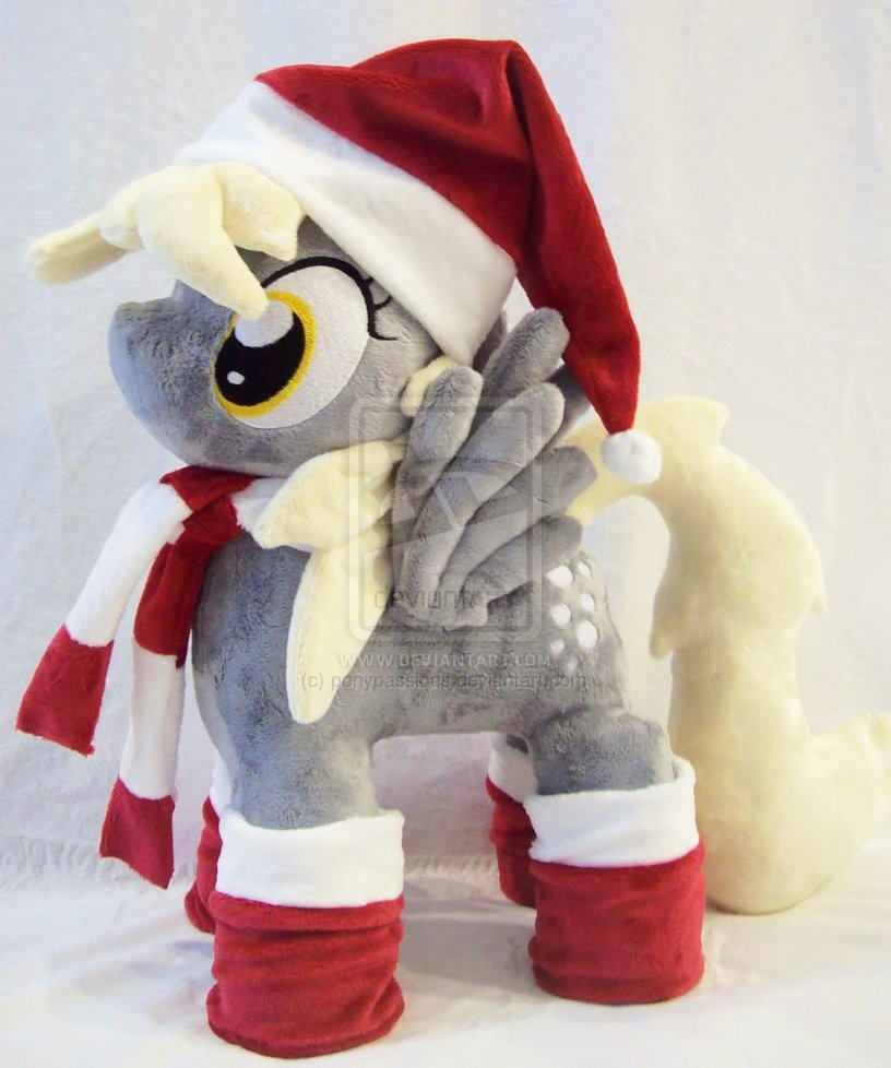 mlp derpy plush christmas by ponypassion